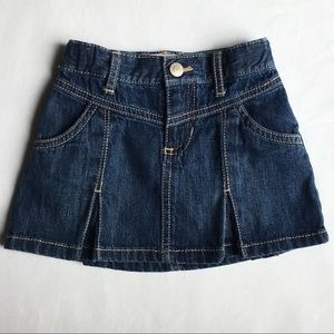 Jeans skirt size 18 24 months pleated denim girls